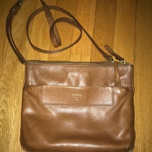Brown Fossil crossbody